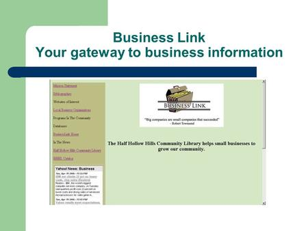 Business Link Your gateway to business information.