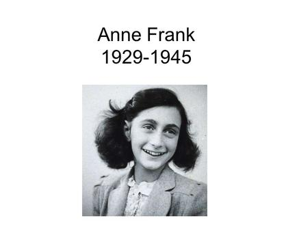 Anne Frank 1929-1945. The Frank family: Otto, Edith, Margot and Anne 1941 - Amsterdam.