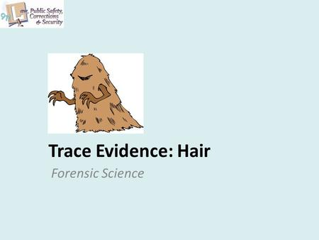 Trace Evidence: Hair Forensic Science. Hair Hair is A slender threadlike outgrowth from the follicles of the skin of mammals Found all over our bodies.