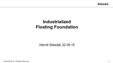 Industrialized Floating Foundation