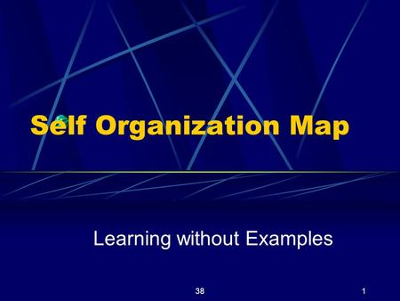 381 Self Organization Map Learning without Examples.
