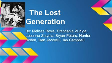 the origin of americas lost generation American culture in the 1920s jazz sylvia beach and the lost generation: a history of literary paris in the twenties twenties america and the meaning of.