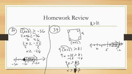 Homework Review. Compound Inequalities 5.4 Are you a solution?