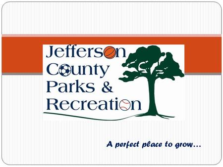 A perfect place to grow…. Presentation Outline Mission Overview Budget Parks Programs Special Events Projects Future Questions.
