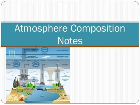 Atmosphere Composition Notes. Agree/Disagree Earth's atmosphere is mostly oxygen.Agree/Disagree Air is weightless.Agree/Disagree Without the atmosphere,