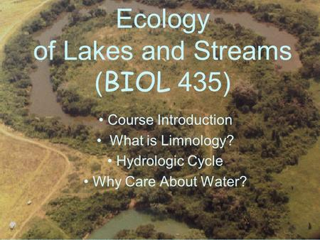 stream ecology intro essay Free dams papers, essays, and research papers these results are sorted by most relevant first (ranked search) you may also sort these by color rating or essay.