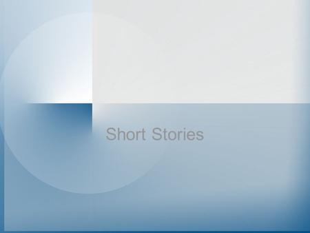 Short Stories. Exposition – The opening portion of a narrative; the scene is set the protagonist introduced, and background info A&P Tone – The attitude.