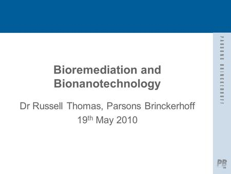 Bioremediation and Bionanotechnology