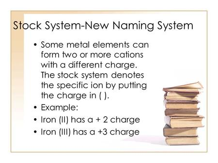 Stock System-New Naming System