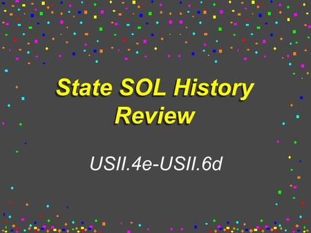 State SOL History Review USII.4e-USII.6d What are the negative effects of industrialization? Child labor Low wages, long hours Unsafe working conditions.