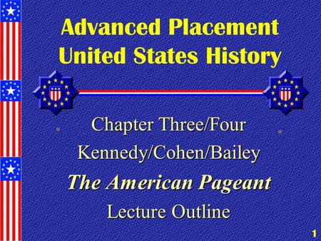 Advanced Placement United States History 2012 Summer Assignment AIS/Independence High School