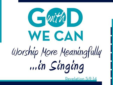"Singing is done ""when you come together"" (1 Cor. 14:26) Singing is done ""in the midst of the assembly"" (Heb. 2:12) Singing is done ""to one another"" (Eph."