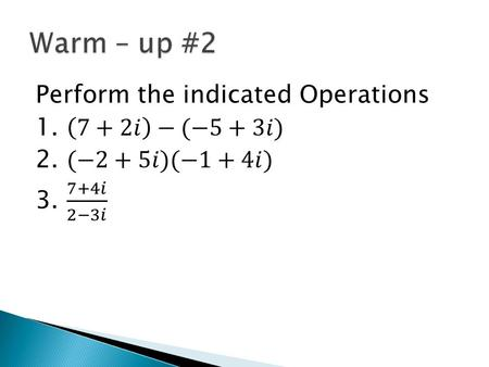 Wed 11/4 Lesson 4 – 7 Learning Objective: To solve using quadratic equations Hw: Lesson 4 – 7 WS.