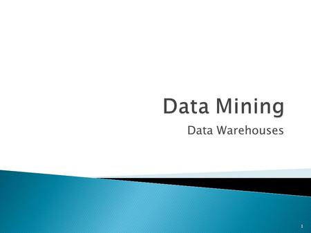 Data Mining Data Warehouses.
