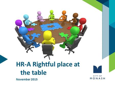 HR-A Rightful place at the table