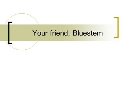 "Your friend, Bluestem. What is Bluestem? ""Bluestem is a software system which enables one or more high-security SSL HTTP servers in a domain (entrusted."