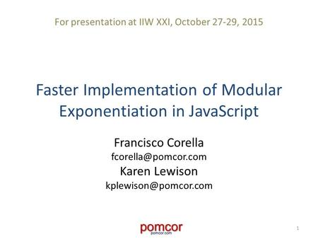 Faster Implementation of Modular Exponentiation in JavaScript