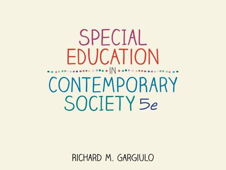 Special Education in Context: People, Concepts, and Perspectives