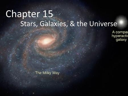Chapter 15 Stars, Galaxies, & the Universe. Vocabulary to Know Black hole Nuclear fusion Parallax Pulsar Quasar Supernova Spectrum.