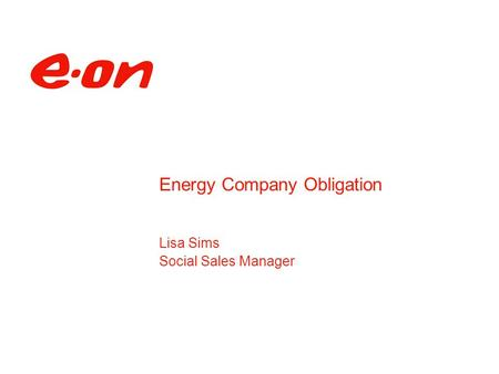Lisa Sims Social Sales Manager Energy Company Obligation.