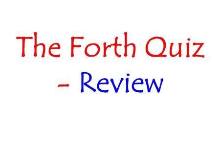 The Forth Quiz - Review. What is party influence, when it comes to getting a bill passed?