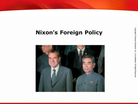 TEKS 8C: Calculate percent composition and empirical and molecular formulas. Nixon's Foreign Policy.