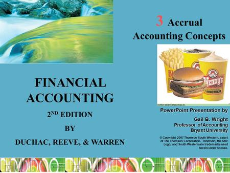 1 PowerPointPresentation by PowerPoint Presentation by Gail B. Wright Professor of Accounting Bryant University © Copyright 2007 Thomson South-Western,