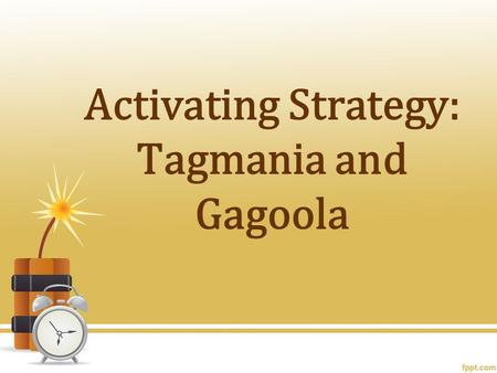 Activating Strategy: Tagmania and Gagoola. How did government policies and key issues lead to the civil war?