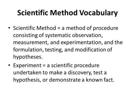 the scientific method and observation & measurement essay Teaching the science process skills  attitude is a respect for the methods and  use of the number makes a measurement a quantitative observation.