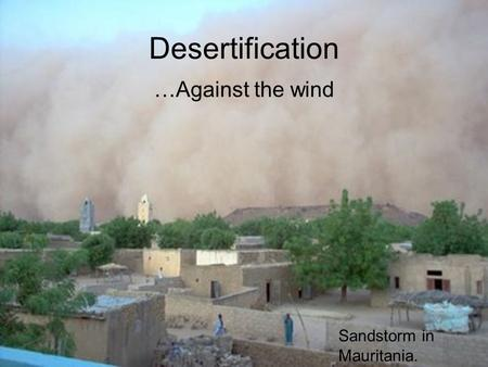 Desertification …Against the wind Sandstorm in Mauritania.