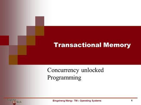 Concurrency unlocked Programming