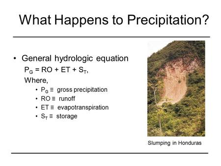 What Happens to Precipitation?