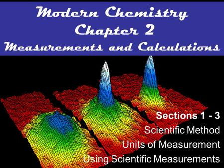 Modern Chemistry Chapter 2 Measurements and Calculations
