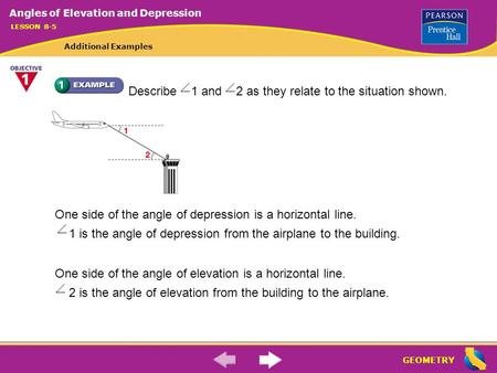 Worksheets Quiz Of Angle Of Depression Circle The Correct Answer quiz draw the standard position angle for 210ao 2 what is geometry describe 1 and as they relate to situation shown one side of
