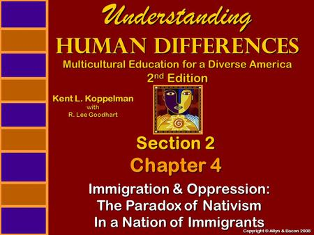 Copyright © Allyn & Bacon 2008 Understanding Human Differences Multicultural Education for a Diverse America 2 nd Edition Section 2 Chapter 4 Kent L. Koppelman.