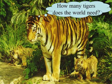 How many tigers does the world need?. CB 52.22 Human Population Growth.