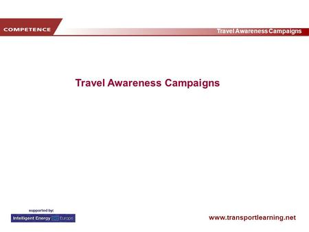 Www.transportlearning.net Travel Awareness Campaigns.