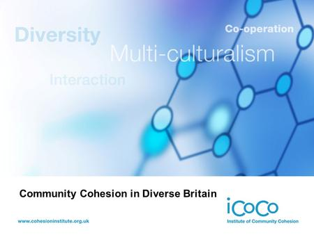Community Cohesion in Diverse Britain. Multiculturalism: The Ever Winding Road Ted Cantle Associate Director, IDeA Professor, Institute of Community Cohesion.