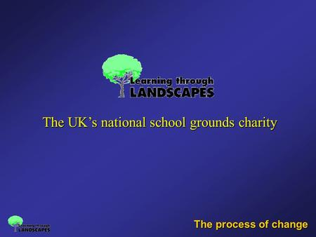 The process of change The UK's national school grounds charity.