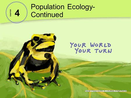 4 Population Ecology- Continued CHAPTER. Age Structure Lesson 4.2 Describing Populations Age structure describe the relative number of organisms of each.