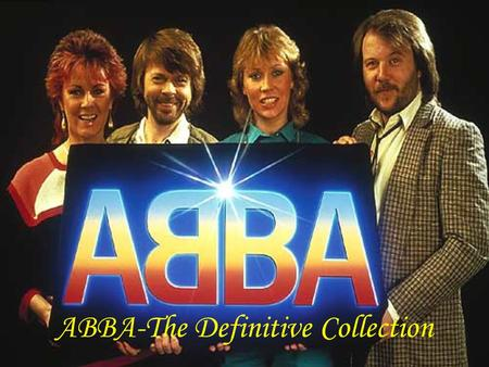 ABBA-The Definitive Collection. Hit - Singles Complete singles.