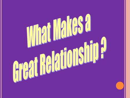 Positive Starters Deepening and Developing Relationship Mature Love.