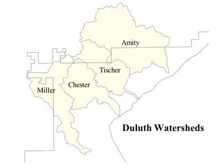 Duluth Watersheds Miller Chester Tischer Amity. Aerial Photos.