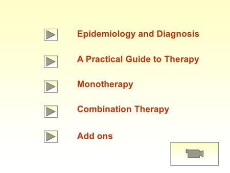 Epidemiology and Diagnosis A Practical Guide to Therapy Monotherapy Combination Therapy Add ons.