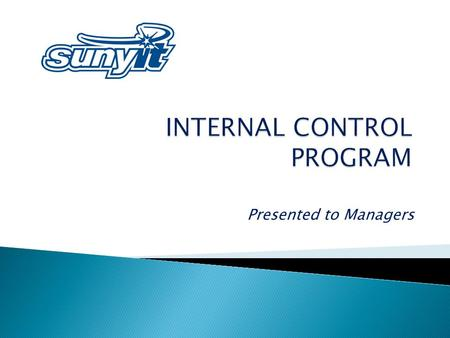 Presented to Managers. INTERNAL CONTROLS are the integration of the activities, plans, attitudes, policies and efforts of the people of an organization.
