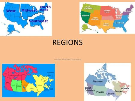 REGIONS Another Goellner Experience. Review!! What type of region is the map showing? A. Formal Region B. Functional Region C. Perceptual Region.