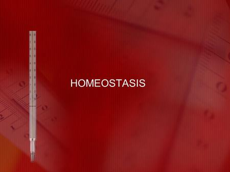 HOMEOSTASIS. What is homeostasis? The maintenance of a stable internal environment Maintains the conditions necessary to support life.