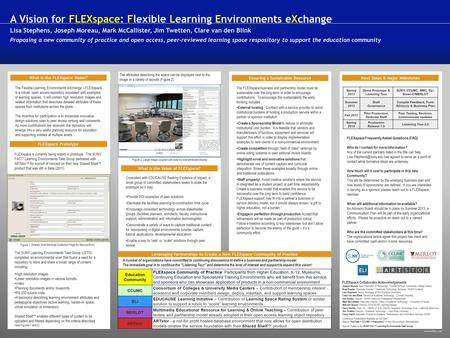 Www.buffalo.edu What is the FLEXspace Vision? The Flexible Learning Environments eXchange – FLEXspace is a robust, open access repository populated with.