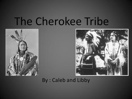 The Cherokee Tribe By : Caleb and Libby. Cherokees lived in Southern Smith County.