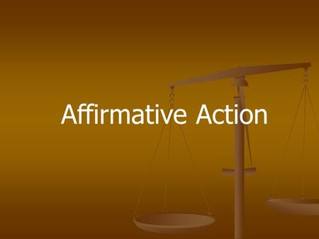 What is affirmative action in American universities?